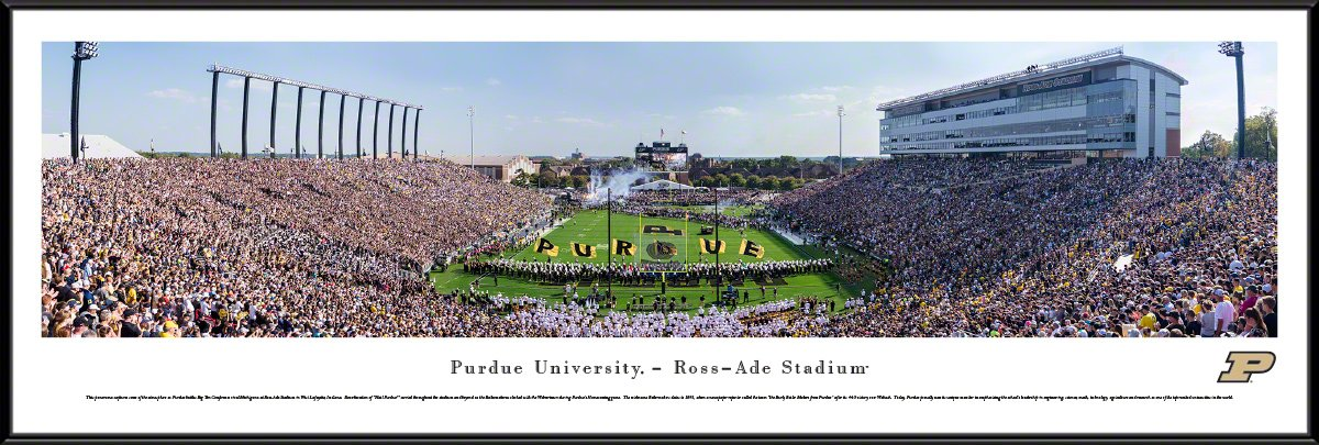 Purdue Football - 40.25x13.75-inch Standard Framed Picture by Blakeway Panoramas by Blakeway Worldwide Panoramas, Inc.