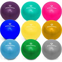 Mini Pilates Ball »Balle« 18cm / 23cm / 28cm / 33cm Gymnastikball für Beckenübungen/ Stärkung der Bauchmuskulatur/ Erhältlich in : Blau, Türkis, Silber, Violett, Grün, Gelb, Orange und Himmelblau