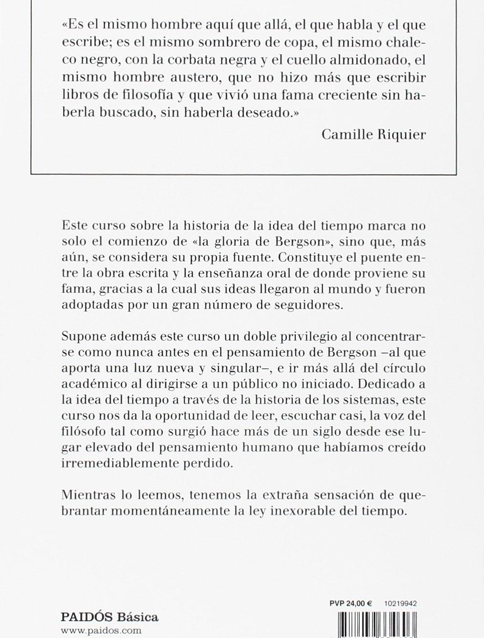 Historia de la idea del tiempo (Básica): Amazon.es: Bergson, Henri ...