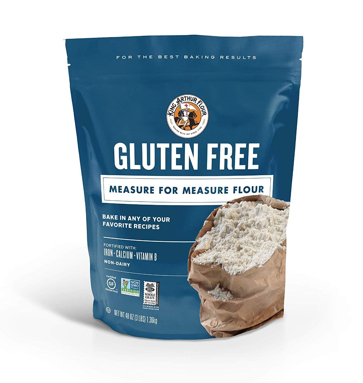 King Arthur Flour Gluten-Free Measure for Measure Flour, 3 Pound (2 Pouch(3 Pound))