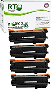 Renewable Toner Compatible Toner Cartridge Replacement for HP 507A 507X for HP LaserJet M551 M575 (Cyan, Magenta, Yellow, Black, 4-Pack)
