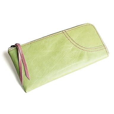 Amazon.com: portafolios de mujer (verde, caballo, piel ...