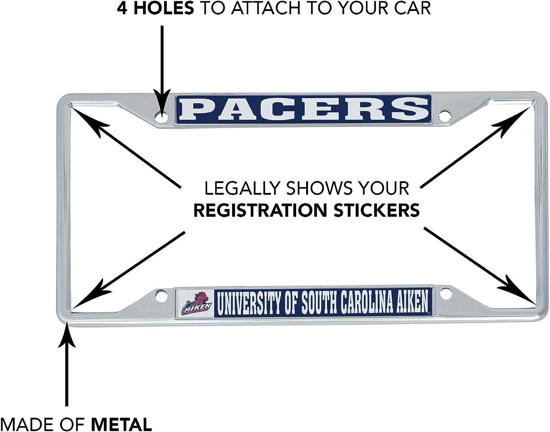 Mascot Desert Cactus University of South Carolina Aiken NCAA Metal License Plate Frame for Front or Back of Car Officially Licensed