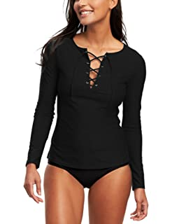 10f4081cf4a021 MAXMODA Womens Long Sleeve Rashguard UPF 50+ Swimwear Top Rash Guard  Athletic Shirts
