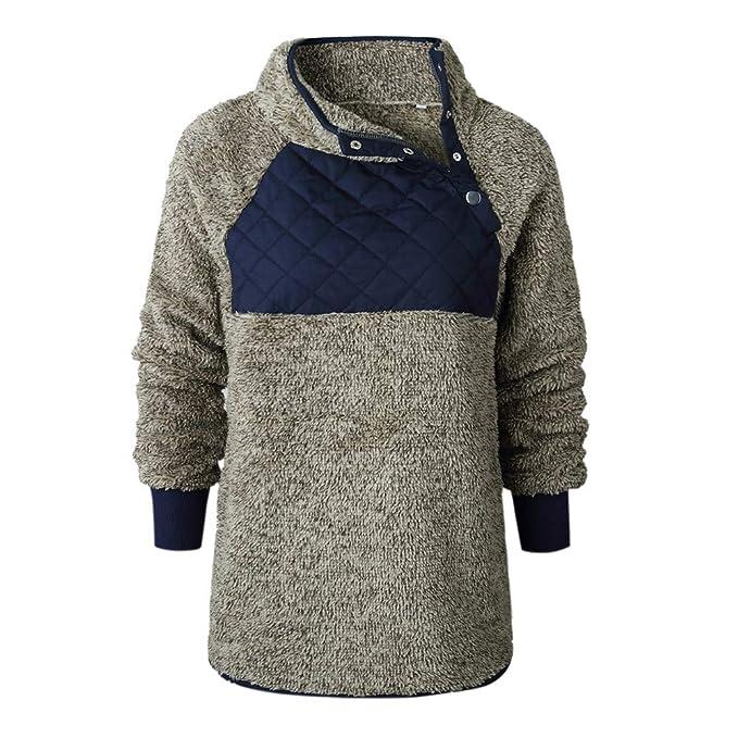 JL Abrigo de algodón de Mujer Costura de otoño e Invierno de Mao Maorong Cuello Oblicuo suéter de Abrigo: Amazon.es: Ropa y accesorios