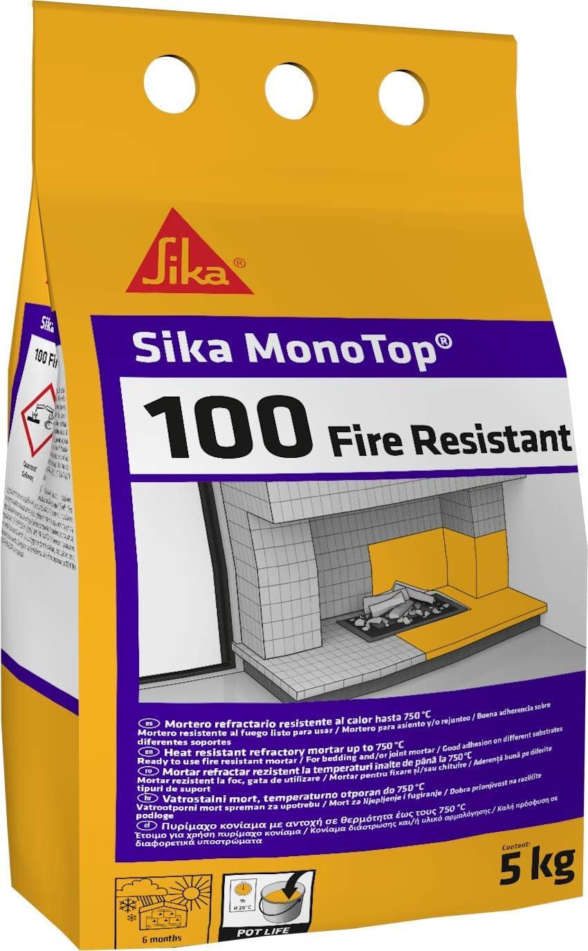 Sika Monotop-100 Fire Resistant, Gris, 5kg