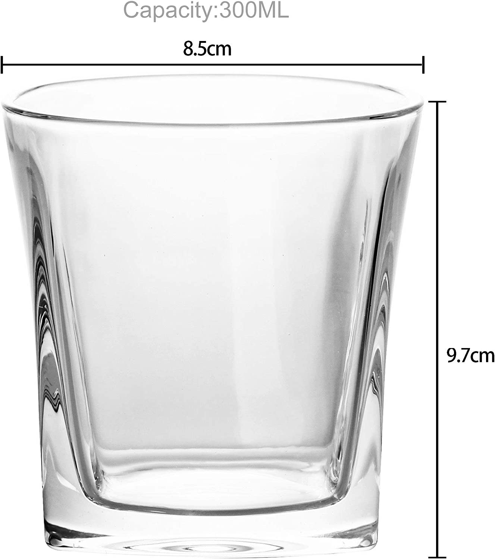 Whisky Scotch Bourbon Vetro per Uomo Intirilife 2X Bicchiere da Whisky /´Vintage/´ in Cristallo Chiaro Tazza Vecchio Stile Whiskey nel Design della Scultura Design Lavabile in lavastoviglie