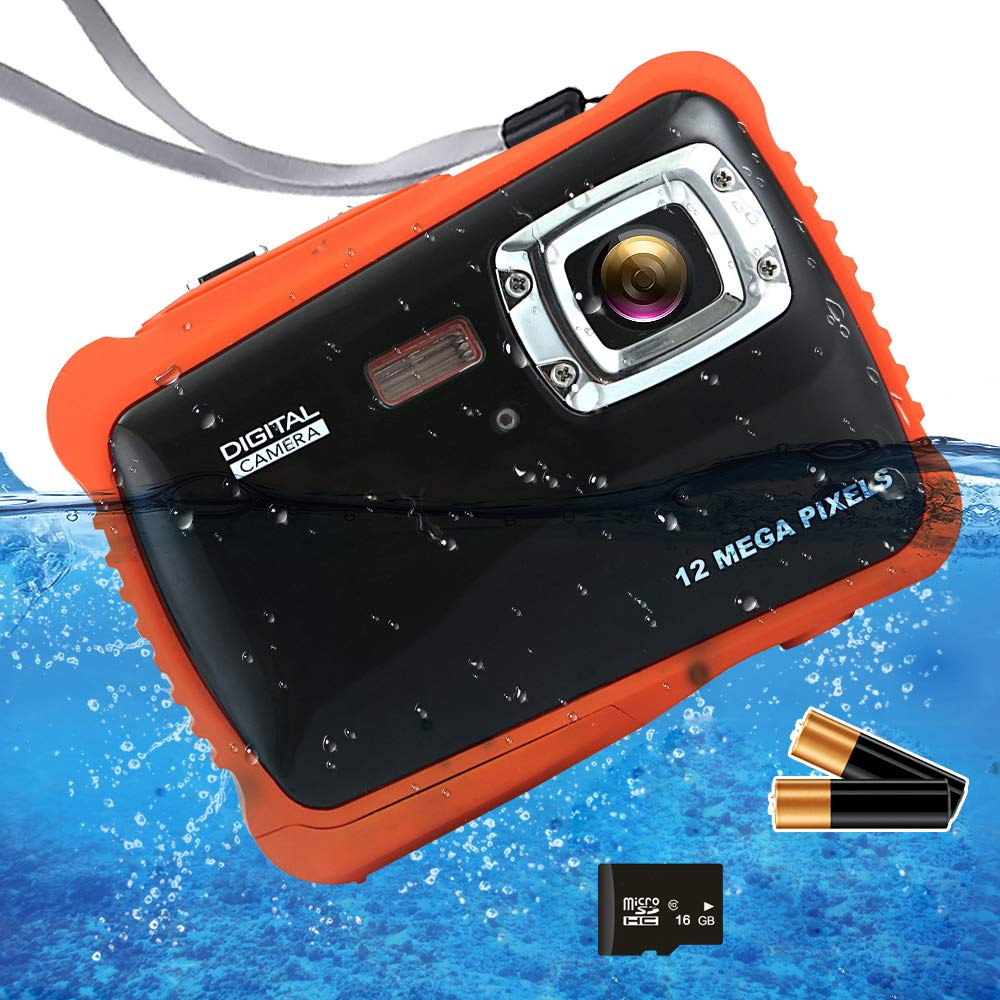 ISHARE Kids Camera, 12MP 1080P Waterproof Digital Camera