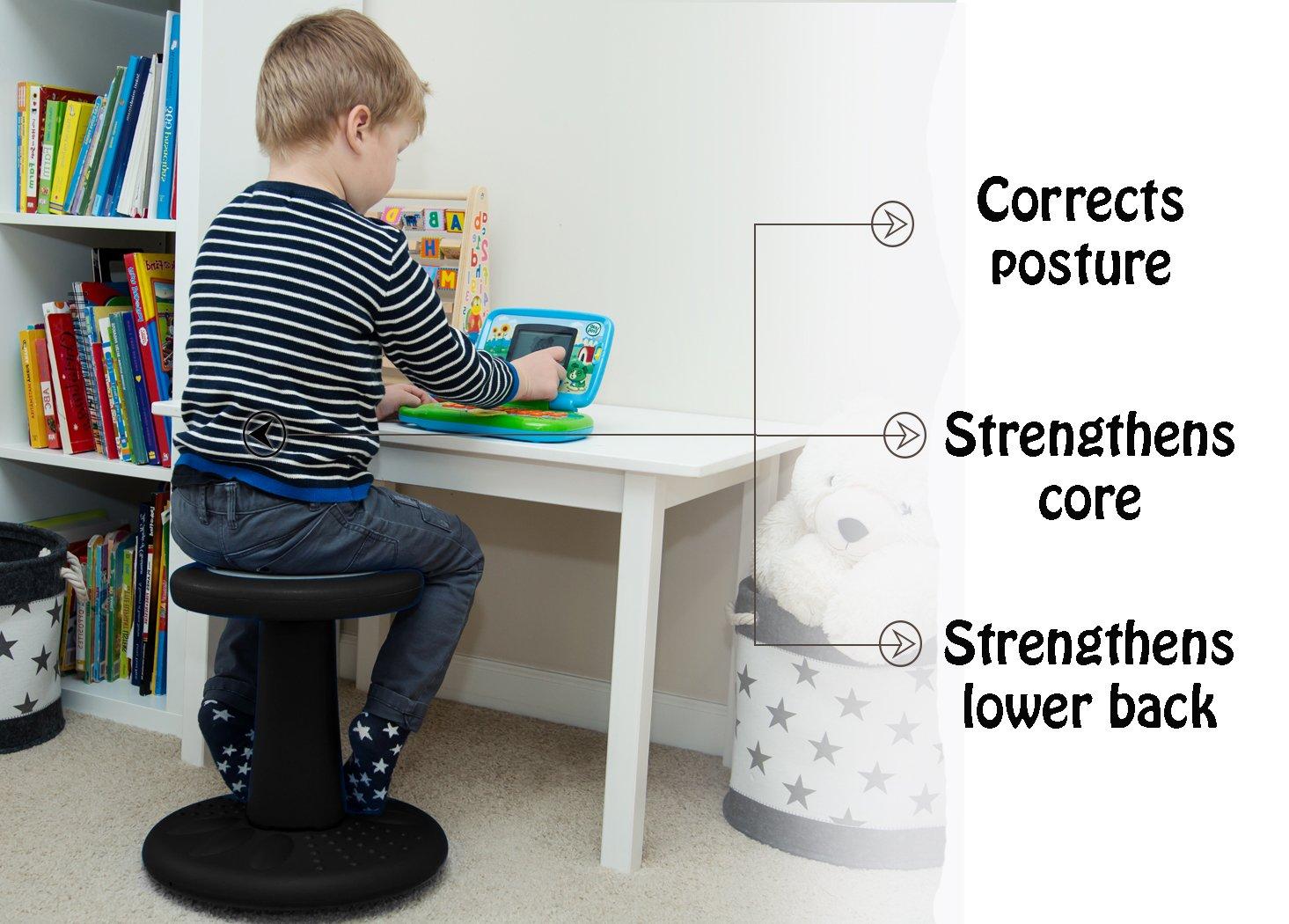 Corrige la Posture-35.5cm Grand ADD//ADHD G/énialSi/ège Bancal pour Enfants Hyperactifs Assise Active pour Bambins Chaise Enfant Toujours Actif Maternelles /& Enfants Qui Ne Tiennent Pas en Place