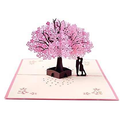 Amazon Com 3d Love Pop Up Card Greeting Cards For Romantic