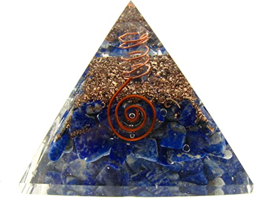 Extra Large 70-75 MM Orgone Pyramid Energy Generator for Love and Relationship