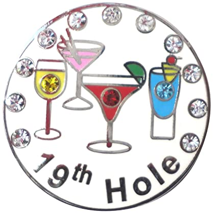 Image Unavailable. Image not available for. Color  19th Hole Golf Ball  Marker W  Crystals and Magnetic Hat Clip 2e9fa15dd4b2