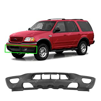 Mbi Auto Textured Black Front Bumper Valance For 1999 2002 Ford F150 Expedition W Tow Fog Holes 99 02 Fo1095181