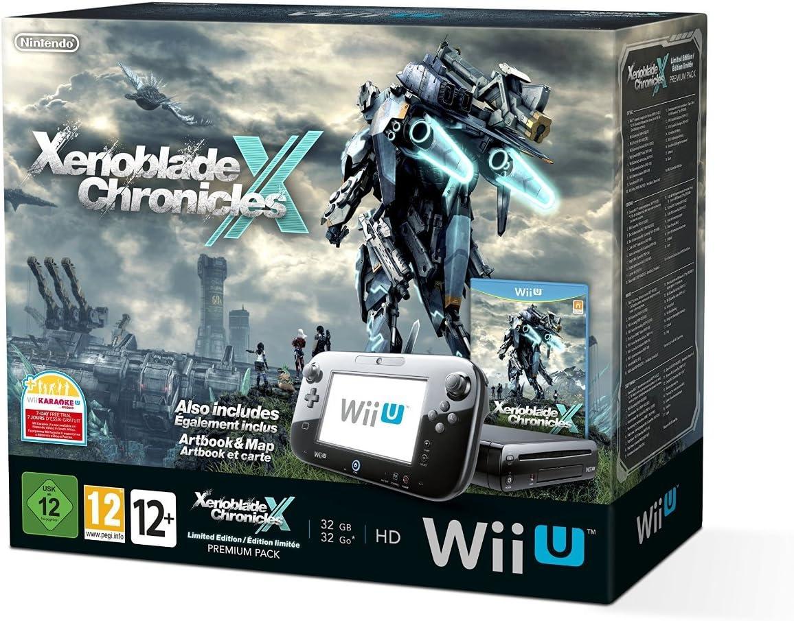 Nintendo Xenoblade Chronicles X Wii U Premium Pack - videoconsolas (Wii U, Negro, 802.11g, 802.11b, 802.11n, 1080i, 720p, 1080p, 480i, 480p, DDR3, IBM PowerPC): Amazon.es: Videojuegos