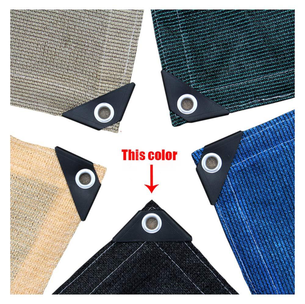 シェードネット、日除け、日焼け止めメッシュ、キャノピーテント生地タープセイル、UV耐性保護に適してプライバシー、複数のサイズが選べる、ブラック (サイズ さいず : 8*9M)  8*9M