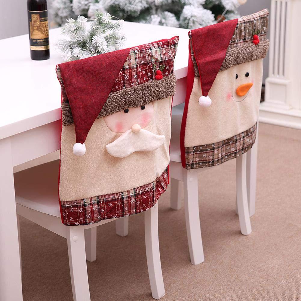 Juan Coprispalle per la Sedia di Natale, Pupazzo di Neve/Babbo Natale Sedia Cover per la casa Decorazione per la Decorazione della Sala da Pranzo