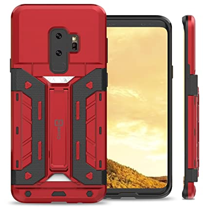 59a69a27e Image Unavailable. Image not available for. Color: Samsung Galaxy S9 Plus  Card Holder Case, CoverON ...