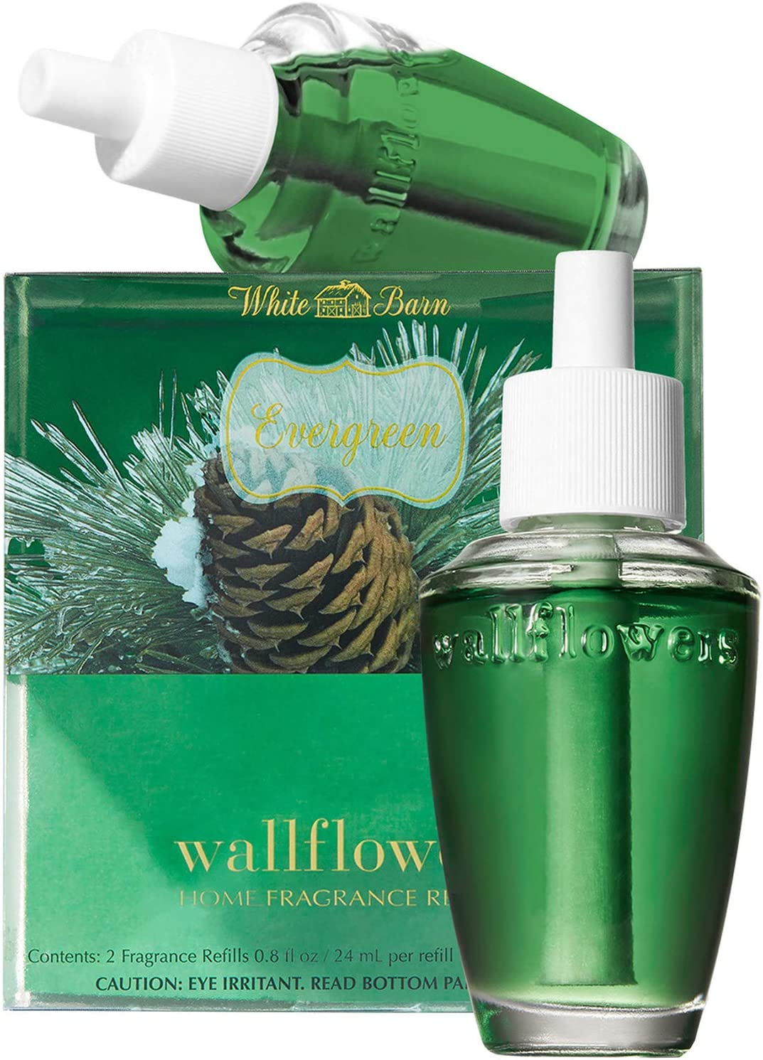 Bath and Body Works New Look! Evergreen Wallflowers 2-Pack Refills