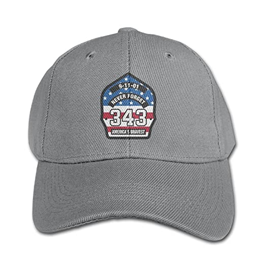 77025556727 Amazon.com  Elephant AN Never Forget 911 343 Firefighters Hero Pure Color  Baseball Cap Cotton Adjustable Kid Boys Girls Hat  Clothing