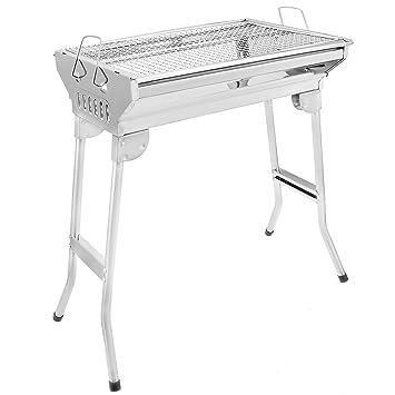 bigtron plegable al aire libre de acero inoxidable barbacoa carbón parrillas portátil barbacoa cocinar al aire