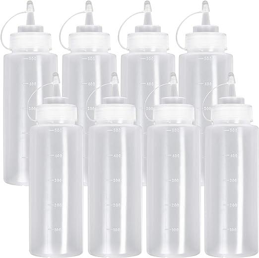 8 St/ück Squeeze Flasche mit Kappe Saucenflasche Quetschflasche Plastikflaschen Gew/ürzspender f/ür Condiment Sauce Dressings Senf Ketchup /Öle. - Auslaufsicher /& 100/% BPA Frei Gro/ß 680 ml