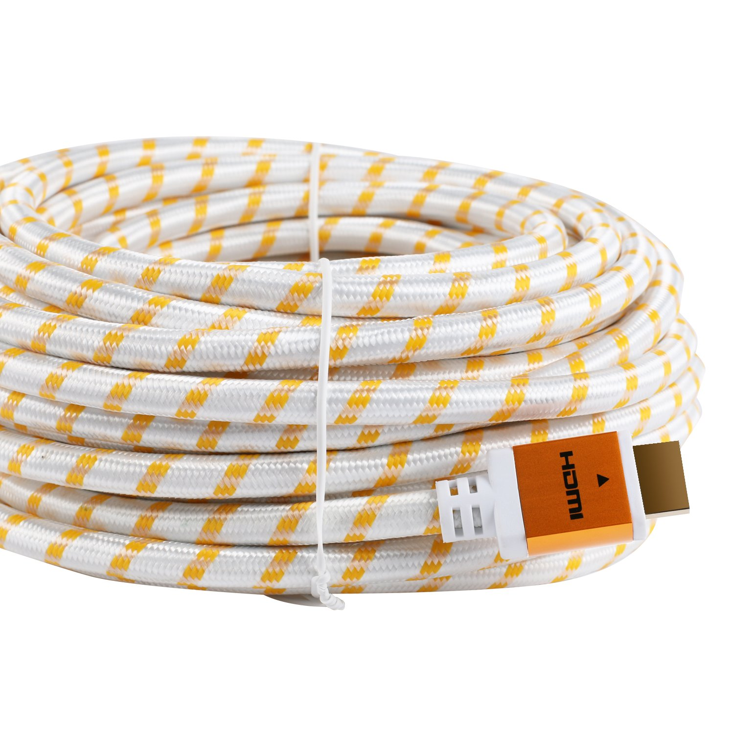 SHD HDMI Cable 4kx2k Ultra 2.0V Support 3D,Ethernet,1080P -50Feet-Golden