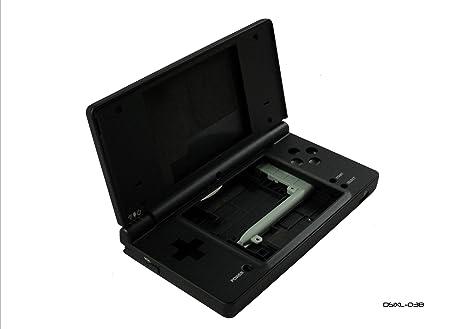 Negro Full consola carcasa Kit de reparación para Nintendo DSi XL ...