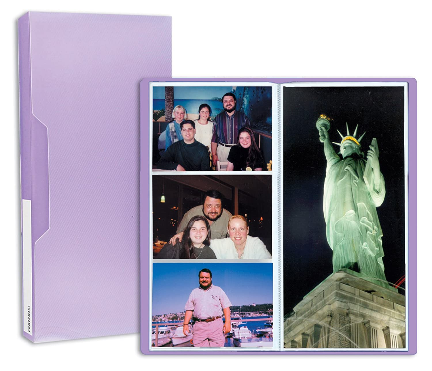 Pioneer Photo Albums CF-3 144-Pocket Poly Cover Space Saver Photo Album, Purple CF-3/PR