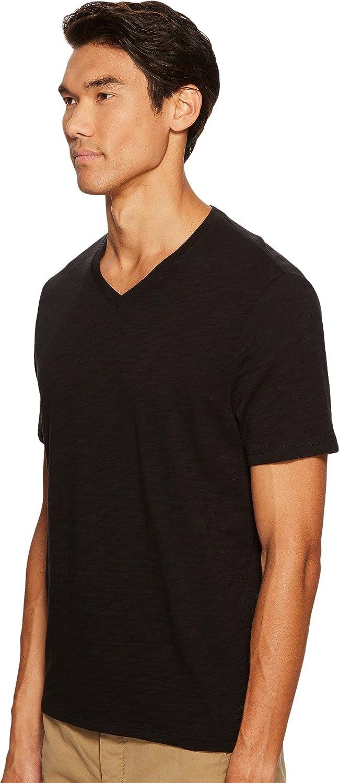 Vince Mens Short Sleeve Slub V-Neck