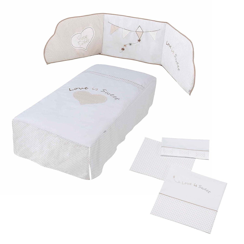 Micuna Sweet Love–Pack di piumone, Pellicola e set lenzuola per culla Pack Textil Sweet Love 120