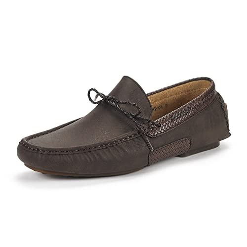 BRUNO MARC NEW YORK Santoni-03 Penny Loafers Moccasins Shoes