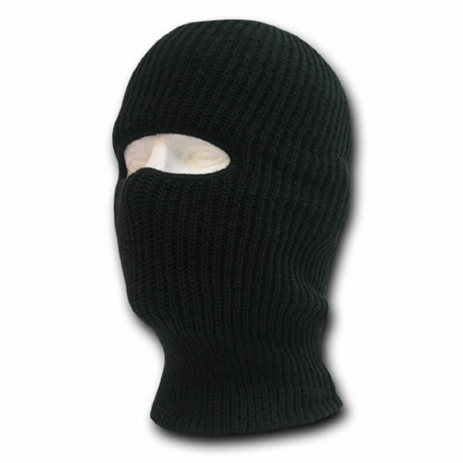 BLACK NINJA TACTICAL MASK SKI CAP FACE PROTECTOR ONE HOLE