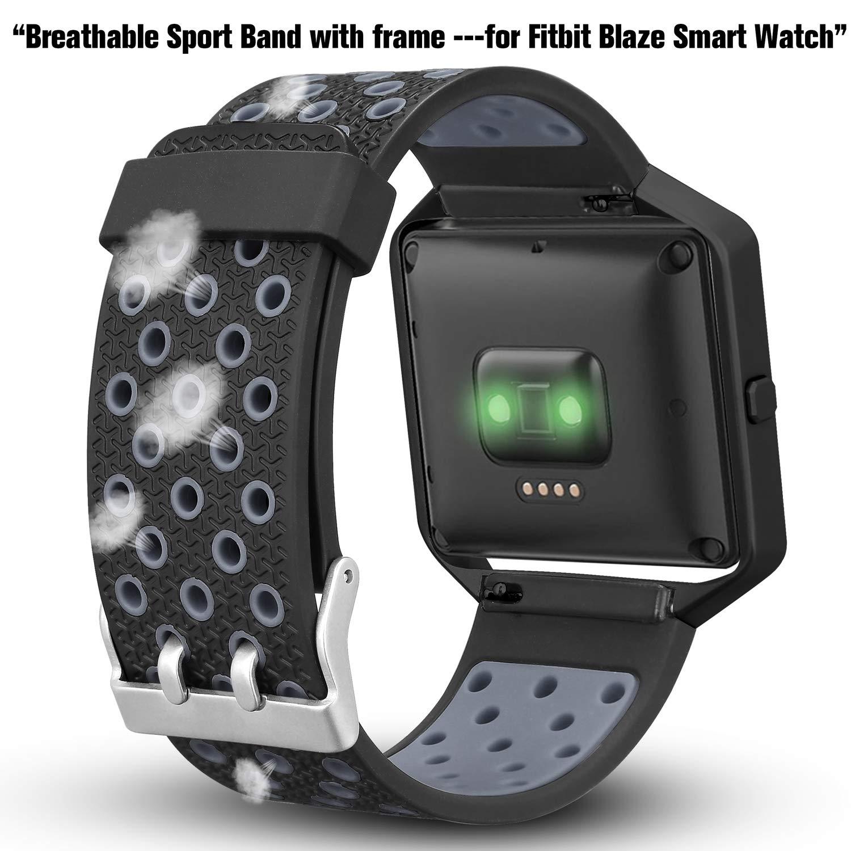 Amazon.com: iHillon compatible con Fitbit Blaze banda con ...