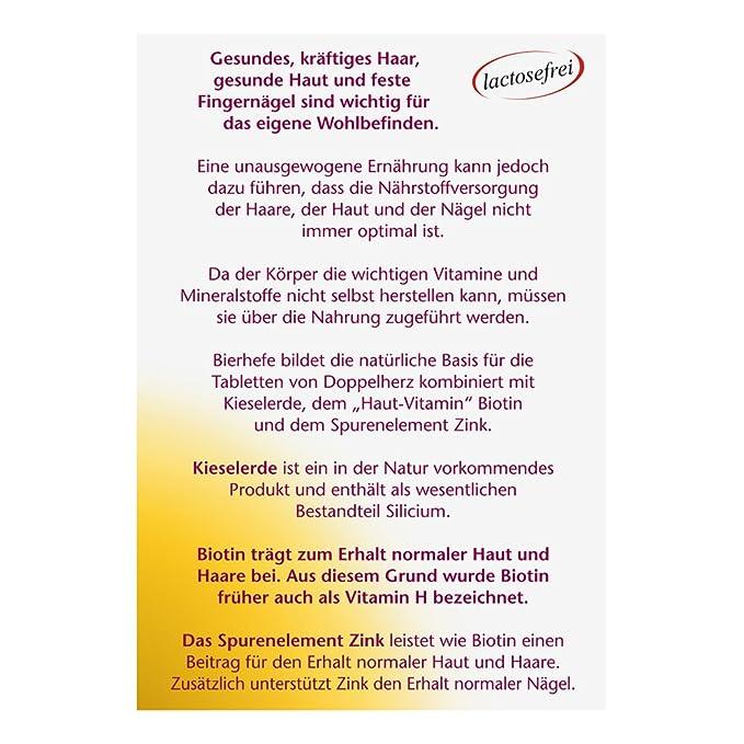 Doppelherz Levadura de cerveza + Tierra de diatomeas Pastillas 30 piezas: Amazon.es: Salud y cuidado personal