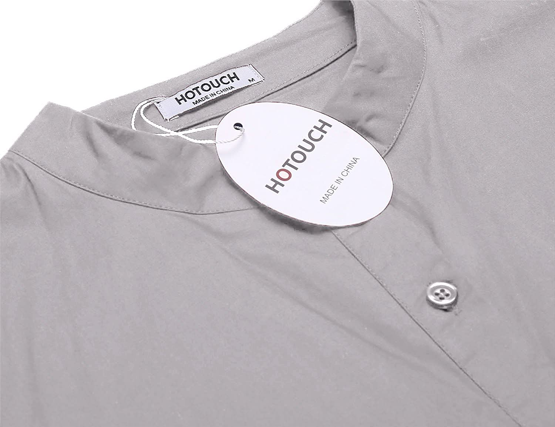 6b1d81f0480cf3 HOTOUCH Damen 3/4 Ärmel Bluse Tunika Loose Fit Hemdbluse Casual Longshirt  Tunikashirt mit Knopfleiste Baumwolle: Amazon.de: Bekleidung