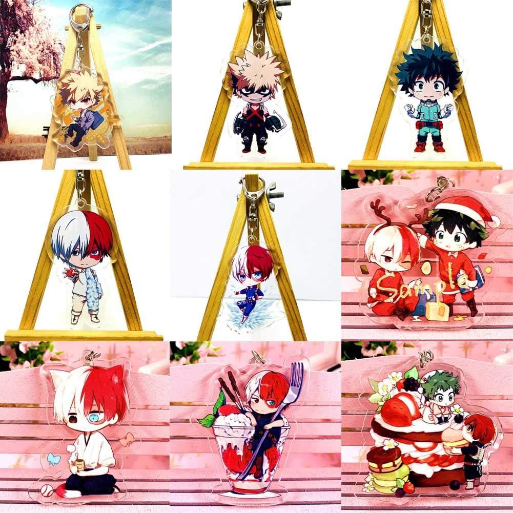 4 Quero Jom91 My Hero Academia Animation Acrylic Keychain Collectible Key Ring Bag Novelty Accessory Anime Cartoon Pendant
