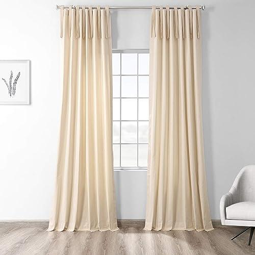 Editors' Choice: HPD Half Price Drapes PRCT-S15B-120-TT Solid Cotton Tie-Top Curtain 1 Panel