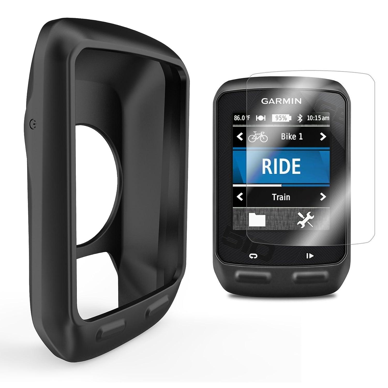 Silicone Protective Cover GPS Bike Computer Accessories AMCS93Blk TUSITA Case for Garmin Edge 510