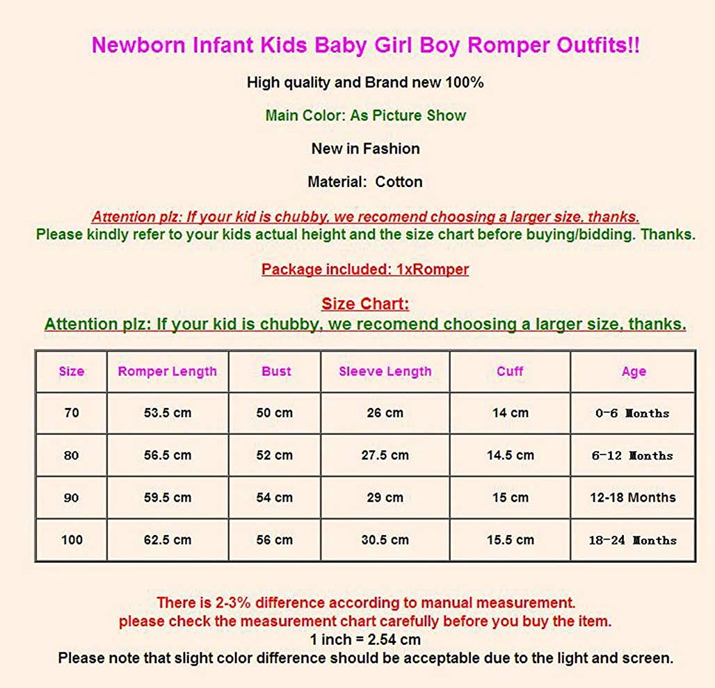 Soft Newborn Baby Girl Boy Clothing Floral Romper Long Sleeve Solid Color Jumpsuit Outfits Clothes Baby Girl 0-24M