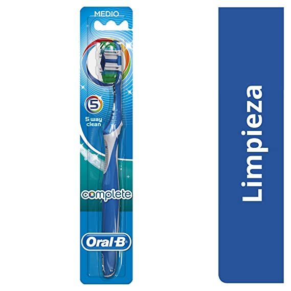 Oral-B Complete Cepillo de dientes manual 5 Formas de Limpieza Medio: Amazon.es: Salud y cuidado personal