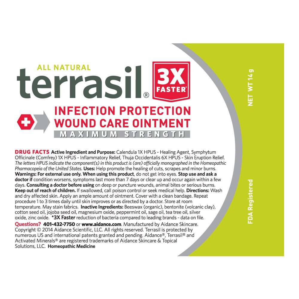 Terrasil® Wound Care MAX - 3X Faster Healing, Dr  Recommended, 100%  Guaranteed, Patented, Homeopathic infection bed & pressure sores diabetic  wounds