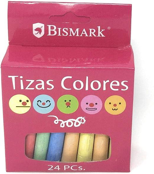 Bismark Pack 4 Caja de 24 tizas de Colores Pastel: Amazon.es: Hogar