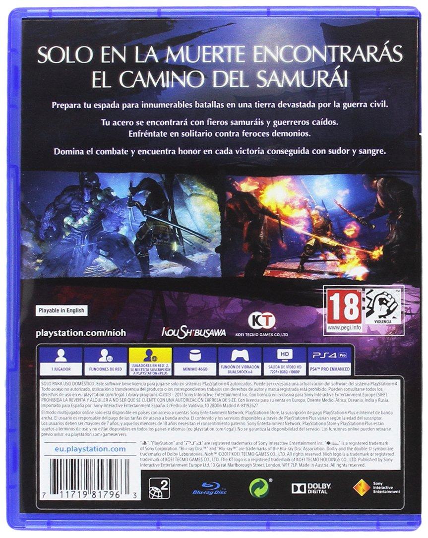 Nioh - Edición estándar: Sony: Amazon.es: Videojuegos
