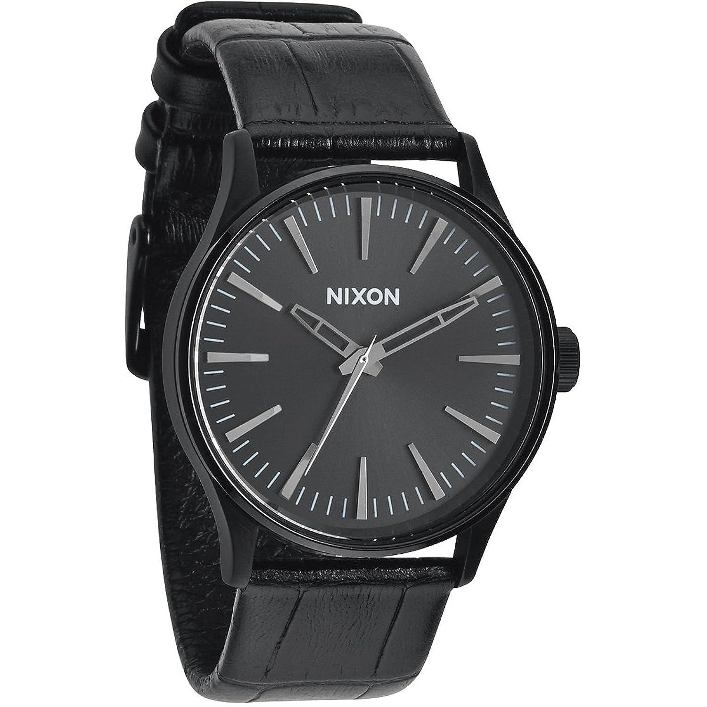 Nixon Herren-Armbanduhr XL Sentry 38 Analog Quarz Leder A3771886-00