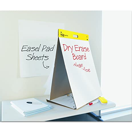 Post It Tabletop Easel Pad With Dry Erase Surface, 20 X 23 Inches