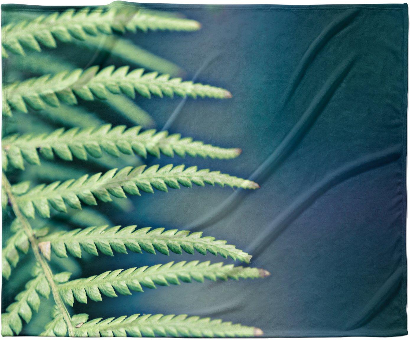 KESS InHouse Ann Barnes Into the Forest Blue Green Fleece Baby Blanket 40 x 30