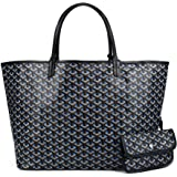 Stylesty Designer Shopping PU Tote Bag Set, Fashion Women Shoulder Handbags with Key Ring