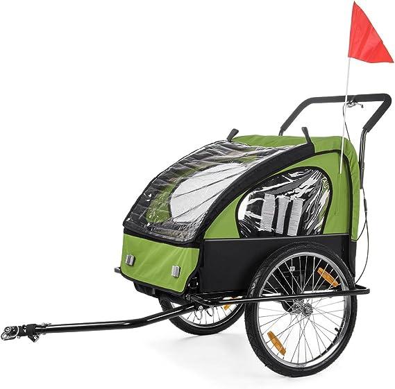 SAMAX Remolque de Bicicleta para Niños en Verde/Negro - Black Frame: Amazon.es: Bebé