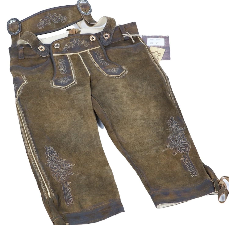 Rotwand antik Nuss Kniebund Lederhose