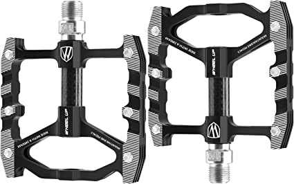 """9//16/"""" Mountain Bike Flat Pedals Low-Profile Aluminium Alloy Bicycle Light Weight"""